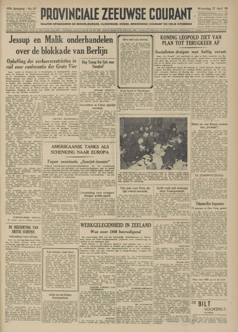 Provinciale Zeeuwse Courant 1949-04-27