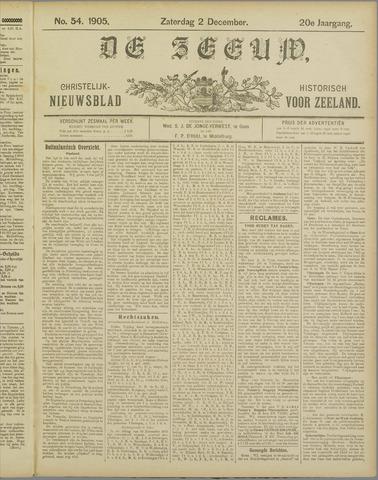De Zeeuw. Christelijk-historisch nieuwsblad voor Zeeland 1905-12-02