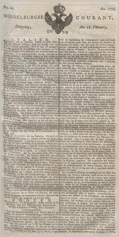 Middelburgsche Courant 1777-02-18