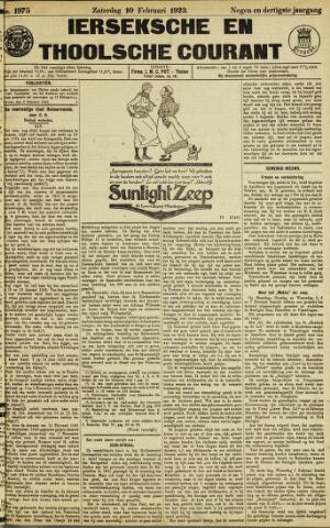 Ierseksche en Thoolsche Courant 1923-02-10