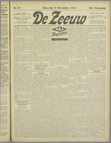 De Zeeuw. Christelijk-historisch nieuwsblad voor Zeeland 1924-12-08