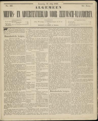 Ter Neuzensche Courant. Algemeen Nieuws- en Advertentieblad voor Zeeuwsch-Vlaanderen / Neuzensche Courant ... (idem) / (Algemeen) nieuws en advertentieblad voor Zeeuwsch-Vlaanderen 1869-07-31