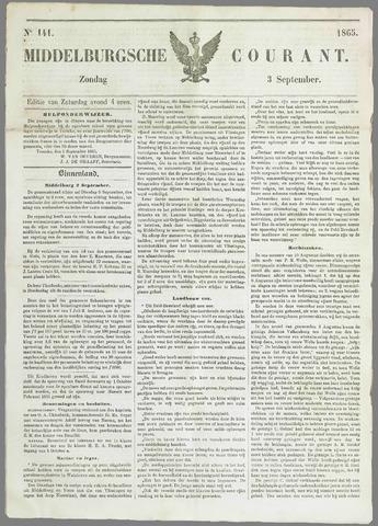 Middelburgsche Courant 1865-09-03