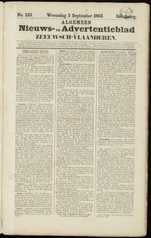 Ter Neuzensche Courant. Algemeen Nieuws- en Advertentieblad voor Zeeuwsch-Vlaanderen / Neuzensche Courant ... (idem) / (Algemeen) nieuws en advertentieblad voor Zeeuwsch-Vlaanderen 1863-09-02