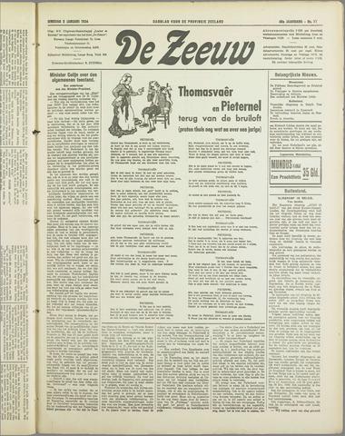 De Zeeuw. Christelijk-historisch nieuwsblad voor Zeeland 1934