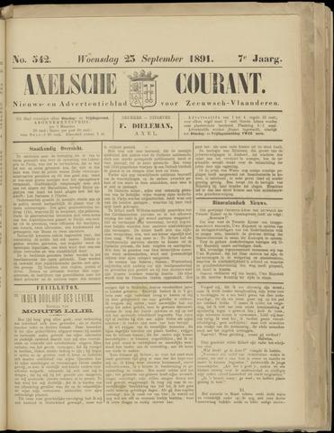Axelsche Courant 1891-09-23