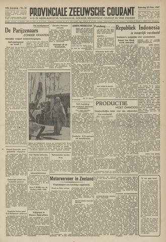 Provinciale Zeeuwse Courant 1947-02-22