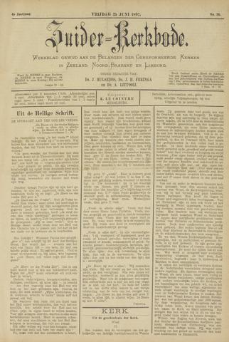 Zuider Kerkbode, Weekblad gewijd aan de belangen der gereformeerde kerken in Zeeland, Noord-Brabant en Limburg. 1897-06-25