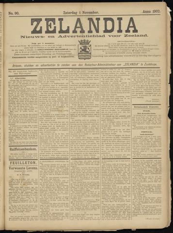 Zelandia. Nieuws-en advertentieblad voor Zeeland | edities: Het Land van Hulst en De Vier Ambachten 1902-11-01