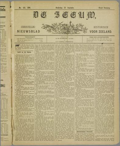 De Zeeuw. Christelijk-historisch nieuwsblad voor Zeeland 1896-09-24