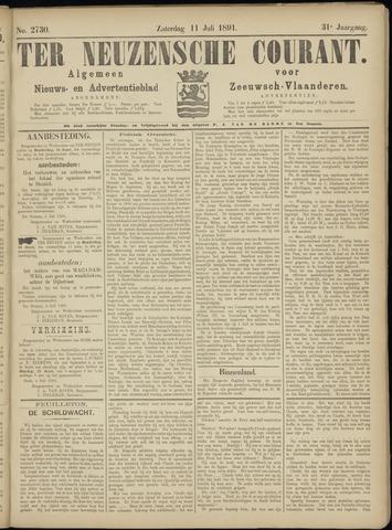 Ter Neuzensche Courant. Algemeen Nieuws- en Advertentieblad voor Zeeuwsch-Vlaanderen / Neuzensche Courant ... (idem) / (Algemeen) nieuws en advertentieblad voor Zeeuwsch-Vlaanderen 1891-07-11