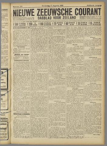 Nieuwe Zeeuwsche Courant 1922-08-17
