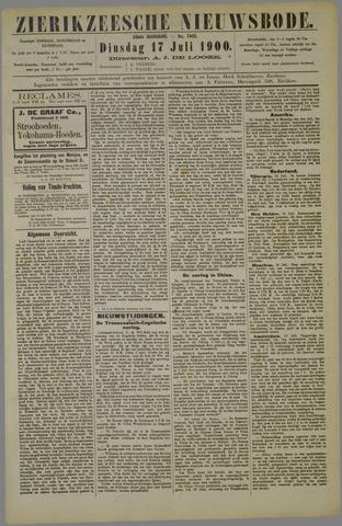 Zierikzeesche Nieuwsbode 1900-07-17