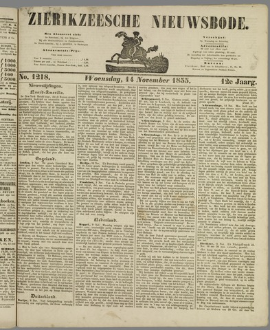 Zierikzeesche Nieuwsbode 1855-11-14