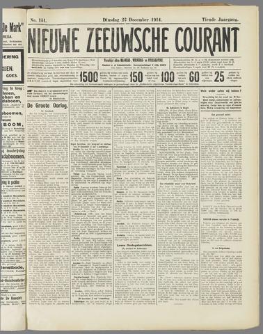 Nieuwe Zeeuwsche Courant 1914-12-22