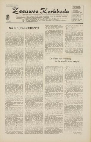 Zeeuwsche kerkbode, weekblad gewijd aan de belangen der gereformeerde kerken/ Zeeuwsch kerkblad 1964-09-18