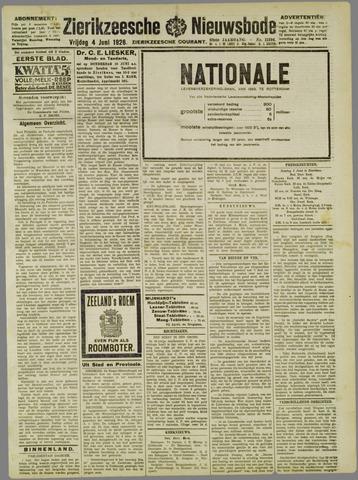 Zierikzeesche Nieuwsbode 1926-06-04