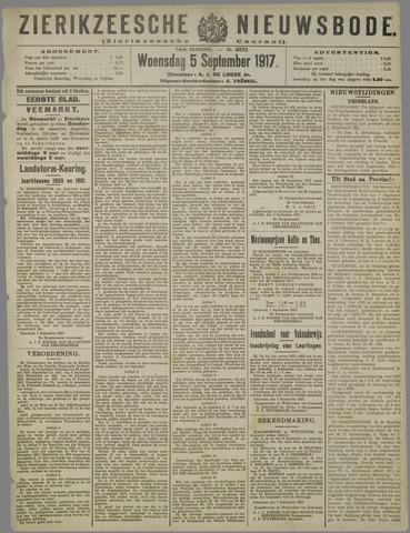 Zierikzeesche Nieuwsbode 1917-09-05