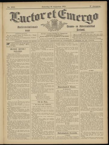 Luctor et Emergo. Antirevolutionair nieuws- en advertentieblad voor Zeeland / Zeeuwsch-Vlaanderen. Orgaan ter verspreiding van de christelijke beginselen in Zeeuwsch-Vlaanderen 1913-08-16
