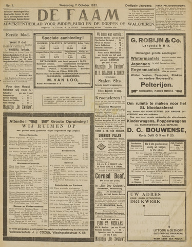 de Faam en de Faam/de Vlissinger 1925