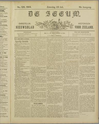 De Zeeuw. Christelijk-historisch nieuwsblad voor Zeeland 1904-07-23