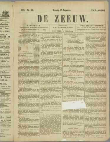 De Zeeuw. Christelijk-historisch nieuwsblad voor Zeeland 1890-08-12