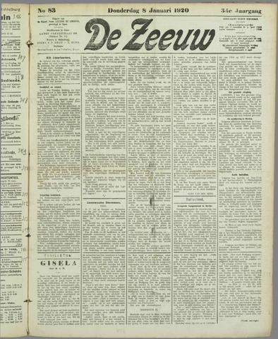 De Zeeuw. Christelijk-historisch nieuwsblad voor Zeeland 1920-01-08