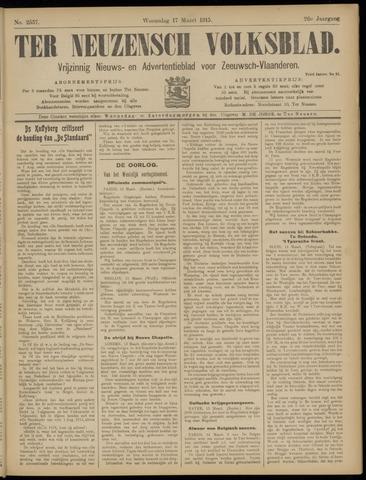 Ter Neuzensch Volksblad. Vrijzinnig nieuws- en advertentieblad voor Zeeuwsch- Vlaanderen / Zeeuwsch Nieuwsblad. Nieuws- en advertentieblad voor Zeeland 1915-03-17