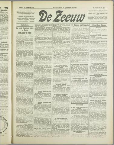 De Zeeuw. Christelijk-historisch nieuwsblad voor Zeeland 1937-08-17