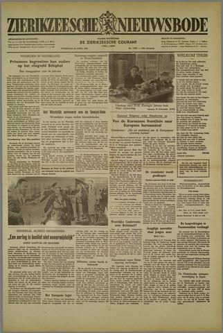 Zierikzeesche Nieuwsbode 1952-04-30