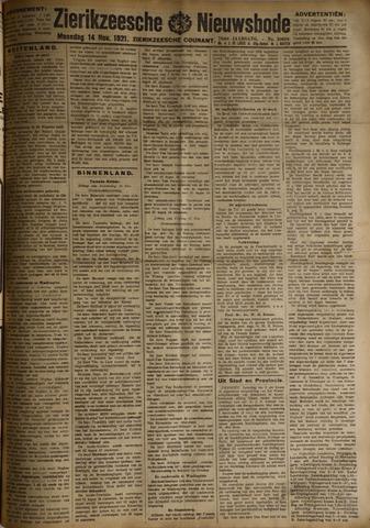 Zierikzeesche Nieuwsbode 1921-11-14