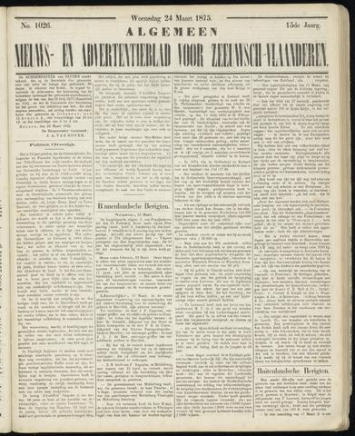 Ter Neuzensche Courant. Algemeen Nieuws- en Advertentieblad voor Zeeuwsch-Vlaanderen / Neuzensche Courant ... (idem) / (Algemeen) nieuws en advertentieblad voor Zeeuwsch-Vlaanderen 1875-03-24