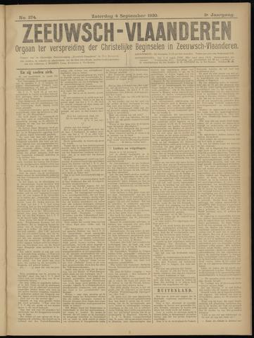 Luctor et Emergo. Antirevolutionair nieuws- en advertentieblad voor Zeeland / Zeeuwsch-Vlaanderen. Orgaan ter verspreiding van de christelijke beginselen in Zeeuwsch-Vlaanderen 1920-09-04