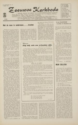 Zeeuwsche kerkbode, weekblad gewijd aan de belangen der gereformeerde kerken/ Zeeuwsch kerkblad 1966-04-01