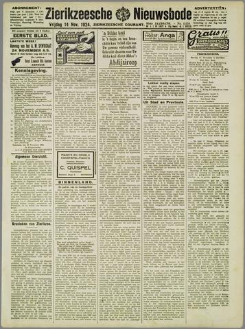Zierikzeesche Nieuwsbode 1924-11-14