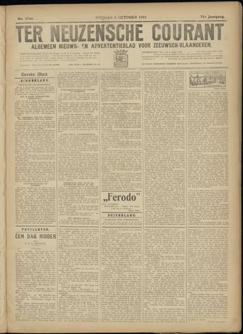 Ter Neuzensche Courant. Algemeen Nieuws- en Advertentieblad voor Zeeuwsch-Vlaanderen / Neuzensche Courant ... (idem) / (Algemeen) nieuws en advertentieblad voor Zeeuwsch-Vlaanderen 1931-10-09