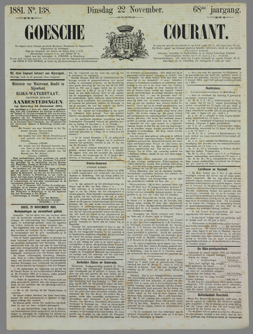 Goessche Courant 1881-11-22