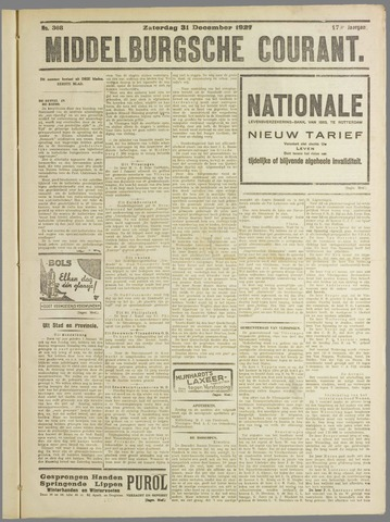 Middelburgsche Courant 1927-12-31