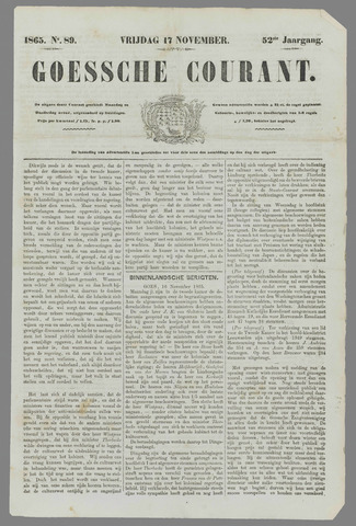 Goessche Courant 1865-11-17