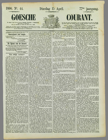 Goessche Courant 1890-04-15