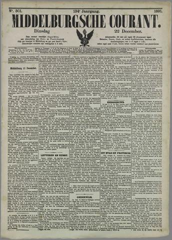 Middelburgsche Courant 1891-12-22