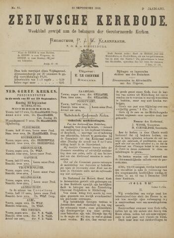 Zeeuwsche kerkbode, weekblad gewijd aan de belangen der gereformeerde kerken/ Zeeuwsch kerkblad 1888-09-22