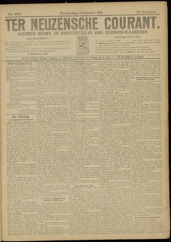 Ter Neuzensche Courant. Algemeen Nieuws- en Advertentieblad voor Zeeuwsch-Vlaanderen / Neuzensche Courant ... (idem) / (Algemeen) nieuws en advertentieblad voor Zeeuwsch-Vlaanderen 1915-01-14