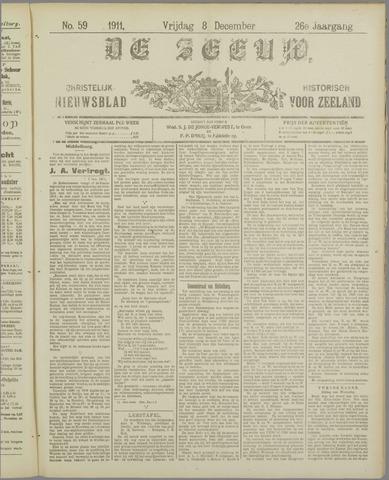 De Zeeuw. Christelijk-historisch nieuwsblad voor Zeeland 1911-12-08