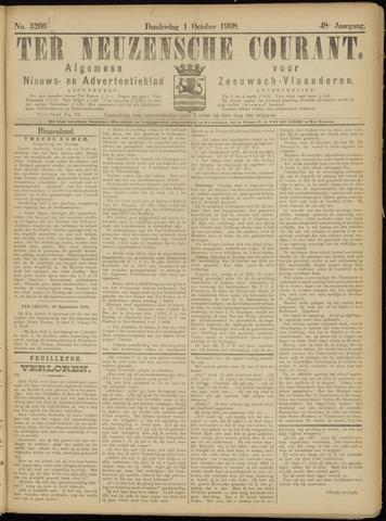 Ter Neuzensche Courant. Algemeen Nieuws- en Advertentieblad voor Zeeuwsch-Vlaanderen / Neuzensche Courant ... (idem) / (Algemeen) nieuws en advertentieblad voor Zeeuwsch-Vlaanderen 1908-10-01