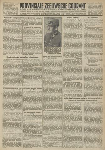 Provinciale Zeeuwse Courant 1942-04-30