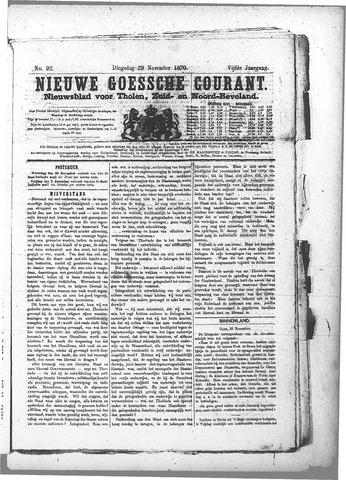 Nieuwe Goessche Courant 1870-11-29