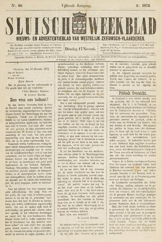 Sluisch Weekblad. Nieuws- en advertentieblad voor Westelijk Zeeuwsch-Vlaanderen 1874-11-17