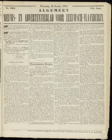 Ter Neuzensche Courant. Algemeen Nieuws- en Advertentieblad voor Zeeuwsch-Vlaanderen / Neuzensche Courant ... (idem) / (Algemeen) nieuws en advertentieblad voor Zeeuwsch-Vlaanderen 1875-10-13