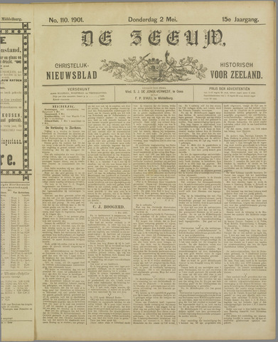 De Zeeuw. Christelijk-historisch nieuwsblad voor Zeeland 1901-05-02